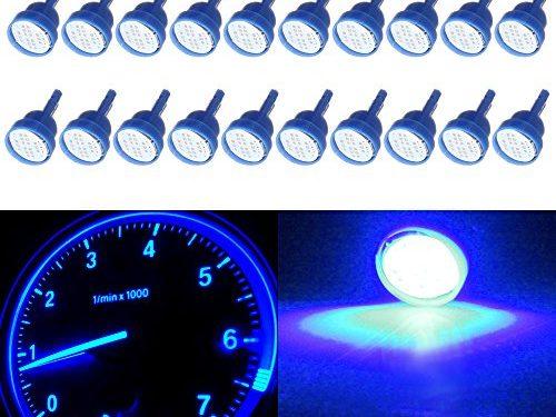 CCIYU 20 Pack Blue T10 W5W 912 194 161 168 COB LED Car Instrument Dash Light Side Wedge Bulbs 12V