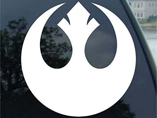 REBEL ALLIANCE / Vinyl Decal Sticker #A1463 4″, White