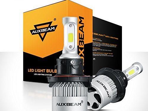 1 Year Warranty – Auxbeam LED Headlight Bulb F-S2 Series LED Headlights with 2 Pcs of H13 9008 H13A P264T PJ264T LED Headlight Bulbs Hi-Lo Beam Bridgelux COB72W 8000lm