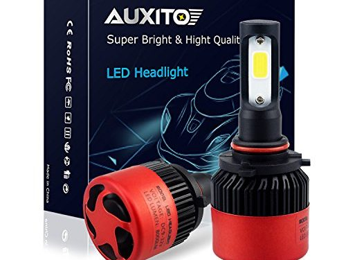 AUXITO Automobile 9005 LED Headlight Bulbs All-in-One Conversion Kit 6500K Cool White 72W 8000Lms Per Pair -New Version with US COB LED Chips Super Bright