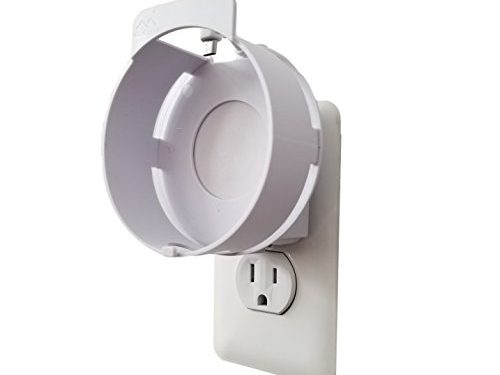 Designed in USA Matte White – The Spot Deluxe by Dot Genie: The Simplest and Cleanest High-End Outlet Wall Mount Hanger Stand for Round Speakers