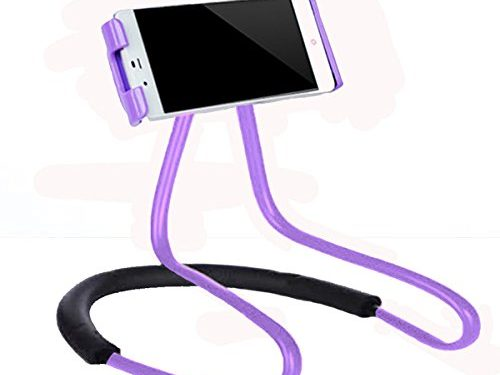 Lazy Cell Phone Holder – Universal Phone Holder to Wear Around neck Lazy Bracket Free Rotating Smart Mobile Phone Mount Stand