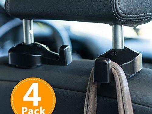 Vehicle Universal Car Back Seat Headrest Hanger Holder Hook for Bag Purse Cloth Grocery – Toplus 4 PACK Car Headrest Hooks