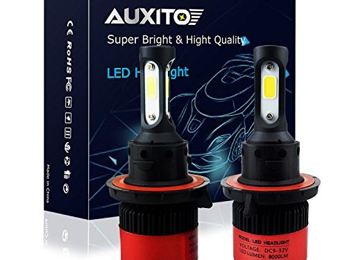 AUXITO Automobile H13 9008 LED Headlight Bulbs All-in-One Conversion Kit 6500K Cool White 72W 8000Lms Per Pair -New Version with US COB LED Chips Super Bright