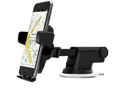 Cyber Cart Car Phone Mount with Washable Strong Sticky Gel Pad and Adjustable Design Dashboard for iPhone 8/8Plus/7/7Plus/6s/6Plus/5S, Galaxy S5/6/7/8, Google Nexus, LG, Huawei and More