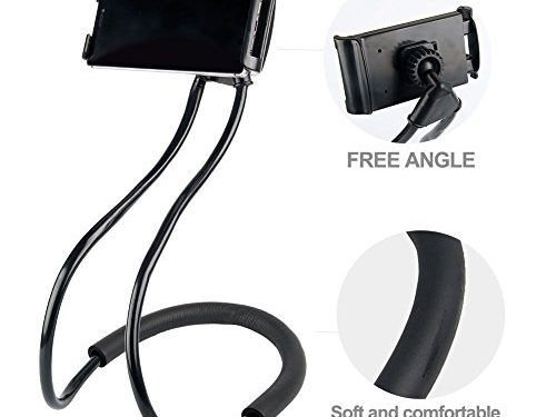 Hanging on Neck Cell Phone Mount Holder, Universal Mobile Phone Stand, Lazy Bracket DIY Free Rotating for Multiple Functions
