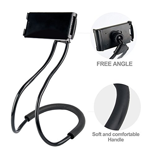 Hanging On Neck Cell Phone Mount Holder Universal Mobile