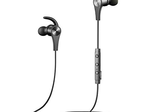 SoundPEATS Bluetooth Headphones Wireless Earbuds 4.1 Magnetic Bluetooth Earbuds aptX With Mic for Sports Workout 7 Hours Play Time, Noise Cancelling, Hands-free Calls – Upgraded Version