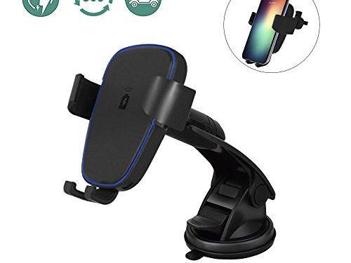 Wireless Car Charger for iPhone X/ 8 / 8 Plus, and Other Qi-Enabled Devices ,Provides Fast-Charging for Samsung Galaxy Note 8 /S8/ S8+/ S7 / S7 edge / S6 edge+/Note 5-Black