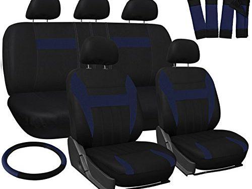 OxGord Car Seat Cover – Blue Black fits Car, Truck, Van, SUV – Full Set