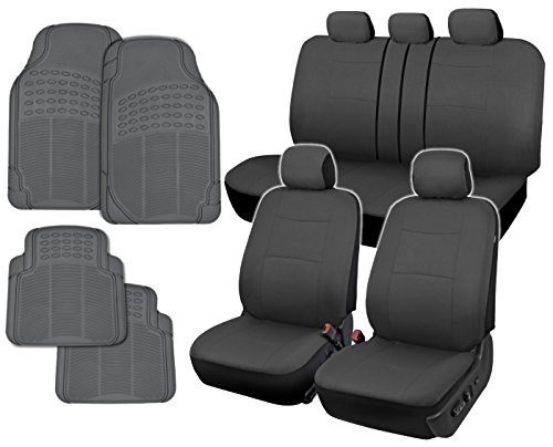 InstaSeat Car Seat Covers Floor Mats Solid Gray NeoCloth All