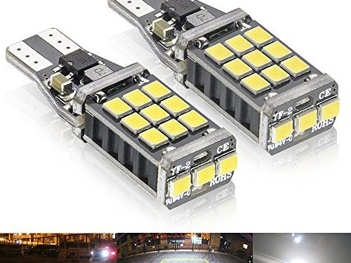 Rayhoo 1100 lumens 921 912 LED Backup Reverse light bulbs, Extremely Bright, Error Free, Xenon White Only used for backup reverse lights Pack of 2