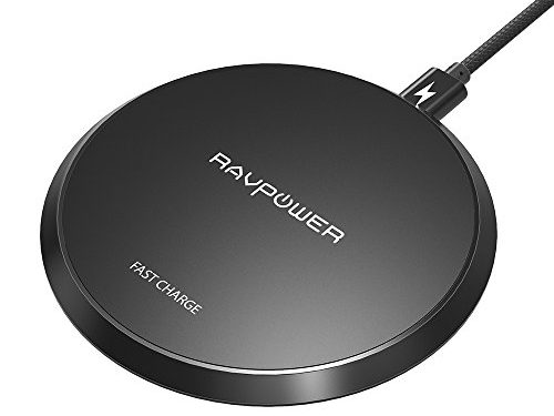Wireless Charger RAVPower Standard QI Wireless Charging Pad for iPhone X / 8 / 8 Plus Fast Wireless Charge for Samsung Galaxy S8 / S8 Plus / S7 Note 8 / 5 and All Qi-Enabled Smart Phones