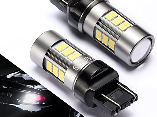6000K, 27 SMD Pack of 2 – 7440/7443/7441 LED Bulbs Backup Lights, SEALIGHT Xenon White