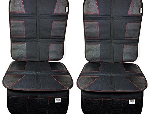 Protects Automotive Vehicle Cloth Upholstery or Leather Seats from Dust and Dirty Shoes – Car Seat Protector 2-Pack By Luliey Car Back Seat Cover Pad for Child and Baby Car Seats and Dog Mats