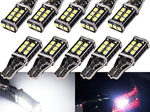 921 912 Backup Reverse Lights,T15 T10 PX Chipsets LED Bulbs 800 lumens Super Bright Canbus Error Free Pure White 6000K LampPack of 10