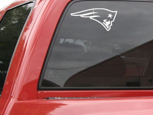 New England Patriots 8×8 White Logo Decal
