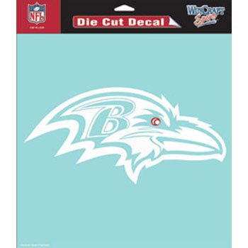 NFL Baltimore Ravens WCR25668061 Perfect Cut Decals, 8″ x 8″