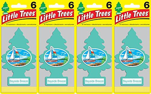Little Trees Bayside Breeze Air Freshener, Pack of 24