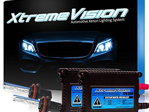 2 Year Warranty – Dark Blue – XtremeVision 35W HID Xenon Conversion Kit with Premium Slim Ballast – H11 10000K