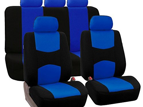 FH GROUP FH-FB050115 Univerisal Car Seat Cover Full Set Blue/black