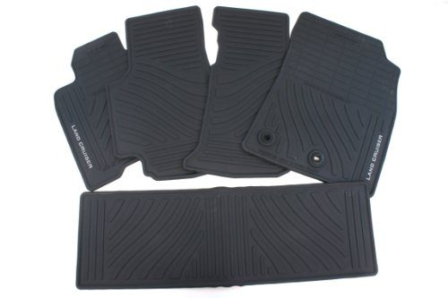 Genuine Toyota Accessories PT206-60121-20 Front and Rear All-Weather Floor Mat Black, Set of 5