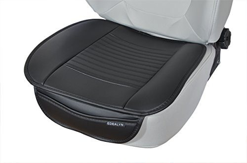 EDEALYN Soft PU leather Car seat cover universal protection Chair cushion Mat Pad No back of a chair,1 pcs Black-N