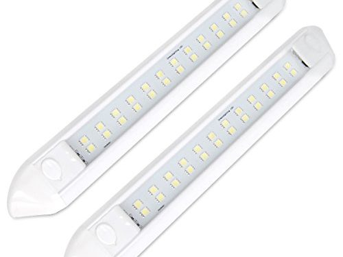 Dream Lighting 12 Volt Waterproof Camping Lights for Awning LED 350lm Cool White for RV Camper Motorhome Marine Boat Pack of 2