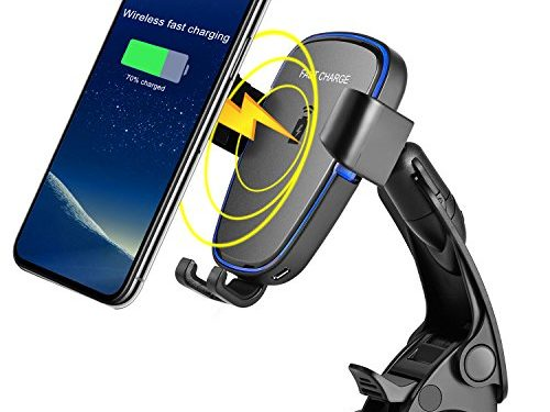 Wireless car charger,Probway Wireless fast Charger Car Mount Gravity Linkage Phone Holder with Air Vent for Galaxy Note 8/S8/S8+ Wireless Standard charger for iphone8 iphoneX Any QI-enabled Device