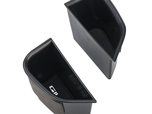 Vesul Black Front Row Door Side Storage Box Handle Armrest Phone Container for Alfa Romeo Giulia Sedan 2017 2018