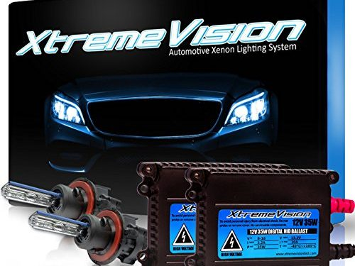 Medium Blue – Bi-Xenon H13 / 9008 8000K – 2 Year Warranty – XtremeVision 35W HID Xenon Conversion Kit with Premium Slim Ballast