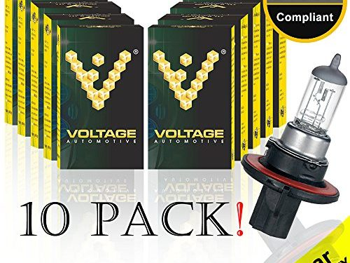 Voltage Automotive H13 9008 Standard Headlight Bulb 10 Pack – OEM Replacement Halogen High Beam Low Beam Fog Lights
