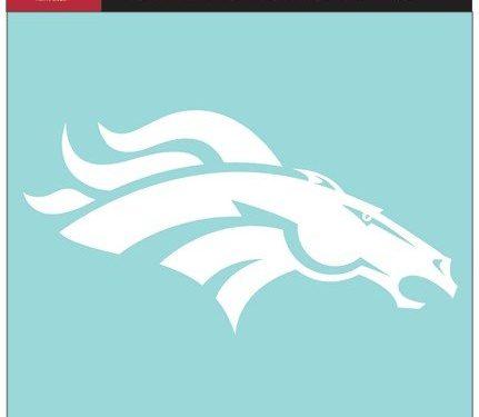 NFL Denver Broncos WCR25662061 Perfect Cut Decals, 8″ x 8″