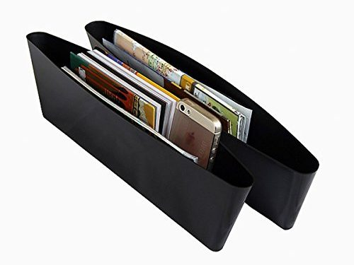 Catch Caddy Car Seat Catcher Magic Box Car Organizer Set Of 2 Side Gap Pocket For Wallet, Phones Maps Cash & Glasses-Spacious Best Car Storage
