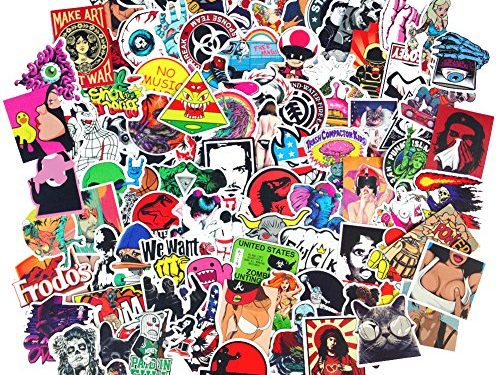 DreamerGO Cool Graffiti Stickers 100 Pieces Various Car Motorcycle Bicycle Skateboard Laptop Luggage Vinyl Sticker Graffiti Laptop Luggage Decals Bumper Stickers 100 Pieces Style C