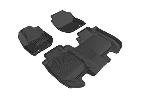 3D MAXpider Complete Set Custom Fit All-Weather Floor Mat for Select Honda HR-V Models – Kagu Rubber Black
