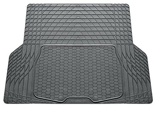 FH Group Heavy Duty Tall Channel F16402GRAY Rubber Floor Mat Gray Full Set Trim to Fit