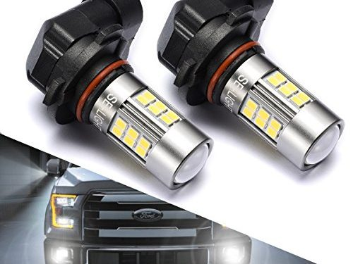 9145/9140/H10/9045/9040 LED Fog Lights Bulbs or DRL, DOT Approved, SEALIGHT Xenon White 6000K, 27 SMD, 2 Yr Warranty Pack of 2
