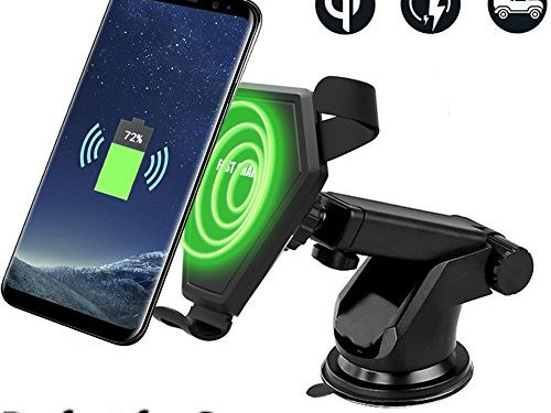 Fast Wireless Car Charger, Aekce Car Mount 2-In-1 Fast Charger for Samsung Galaxy Note 8,S8,S8 Plus,S7,S7 Edge,S6 Edge Plus,Note5,Perfect Compatibility with Samsung Fast Charging