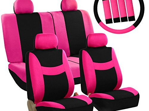 FH GROUP Stylish Cloth Airbag Split Ready Full Set Car Seat Covers Combo FH2033