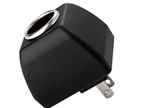 AOKII AC to DC Power Socket Adapter Converter,110~220V Mains to 12V-500MA Car Cigarette Lighter Socket Power Adapter Charger,Household Cigarette Lighter Socket … Black