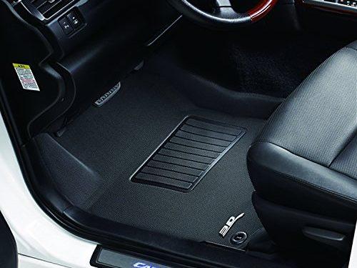 3D MAXpider Front Row Custom Fit All-Weather Floor Mat for Select Hyundai Santa Fe Models – Kagu Rubber Black