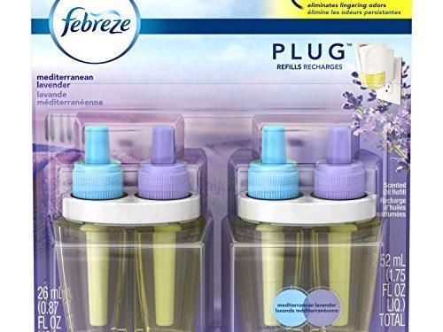 Febreze  Air Freshener, Noticeables Air Freshener,  Mediterranean Lavender Dual Oil Refill Air Freshener 2 count, 1.75 Oz