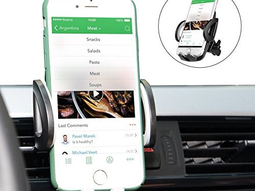 Car Mount, Goodsail Universal Car Air Vent Holder, 360 Rotation with Release Button for iPhone X/ 8 Plus/ 8/ 7 Plus/ 7, and other Smartphones and GPS devices- Black