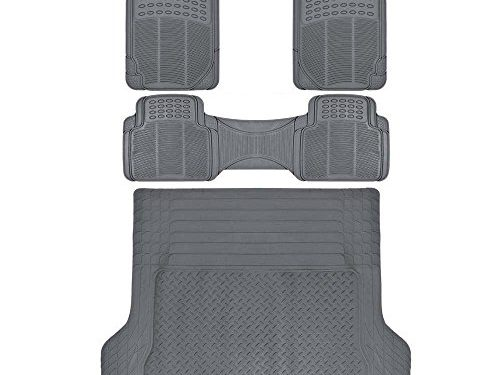ProLiner Gray All Weather Rubber Auto Floor Mats & Cargo Liner – Heavy Duty 4pc Set