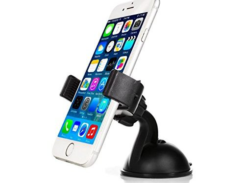 Mobility 1700 Series Universal Smart Phone Car Mount with Suction for Dashboard / Windshield – Cell Phone Holder Compatible with Virtually any Smartphone Including Apple iPhone, Samsung Galaxy & More