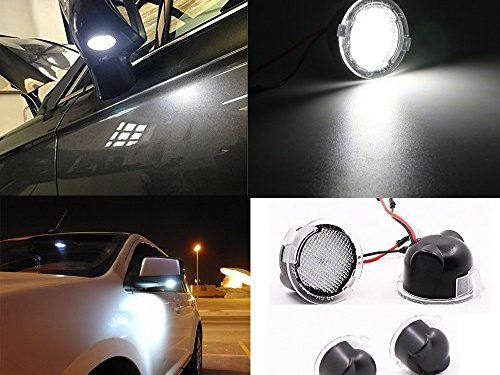 2pcs set High power white LED Under Side rear tow Mirror Puddle Lights for Ford Edge Fusion Flex Explorer Expedition Mondeo Taurus F-150 FX4 SVT Raptor F-150 Heritage-LC07001