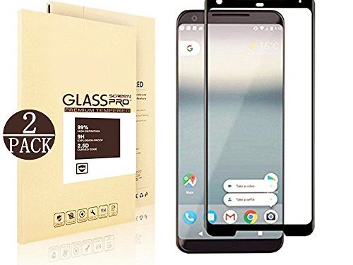 Google Pixel 2 XL Screen Protector,Wtbone Ultra-Clear Bubble-free Tempered Glass Screen Protector for Google Pixel 2 XL 2-Pack – Black