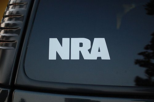 NRA Sticker Vinyl Decal V59 Gun Rights Rifle National Rifle Association CHOOSE SIZE/COLOR! 10.5′ X 4″, White