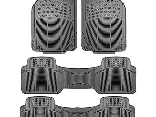 FH Group F11306GRAY-3ROW Floor Mat Trimmable Heavy Duty 3 Row SUV All Weather 4pc Full Set – Gray